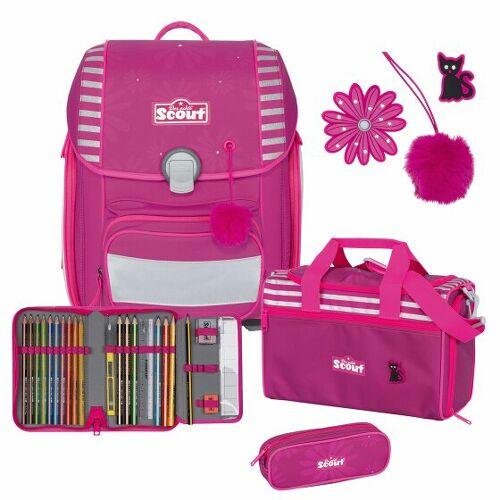 Scout Genius zestaw szkolny 4cz. pretty pink  - fuksja - Unisex - Dzieci