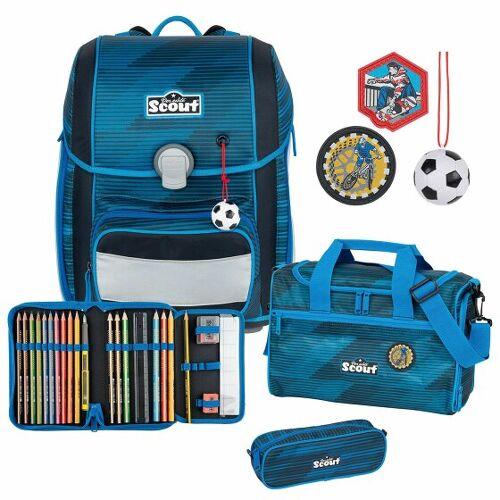 Scout Genius zestaw szkolny 4cz. sport  - niebieski - Unisex - Dzieci