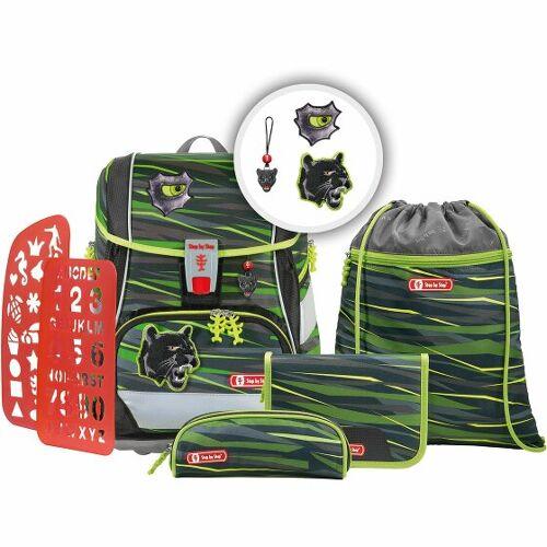 Step by Step 2in1 Plus zestaw szkolny 6tlg. wild cat  - zielony - Unisex - Dzieci