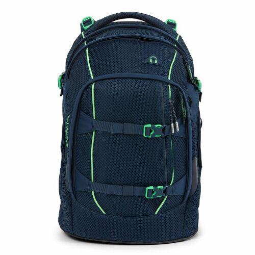 Satch Pack Plecak szkolny 45 cm przegroda na laptopa dark blue green  - petrolowy - Unisex - Dzieci