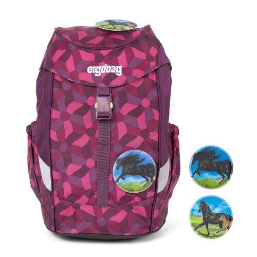 Ergobag mały Plecak przedszkolny 30 cm nachtschwärmbär lila blumen  - liliowy - Unisex - Dzieci