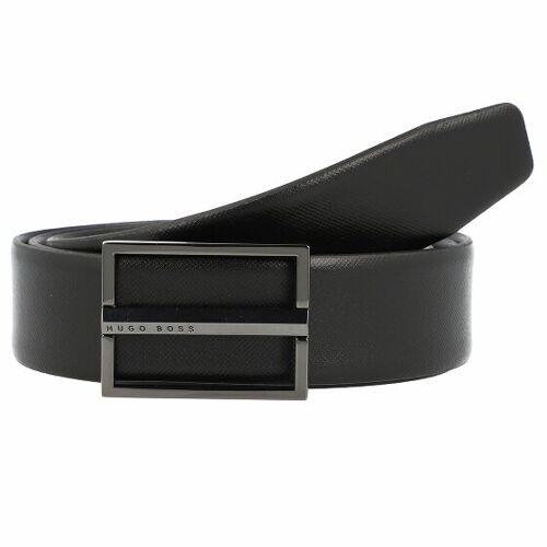 Boss Ores Skórzany pasek odwracalny black 90 cm  - czarny - Mężczyźni