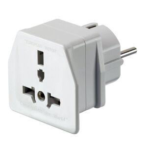 Go Travel Elektro + Elektronikgeräte Reise-Adapter Europa weiß  - biały - Mężczyźni,Damy,Unisex - Dorośli