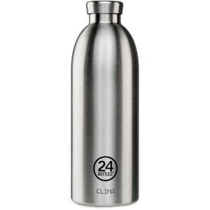 24Bottles Basic Clima Butelka 850 ml steel  - srebrny - Unisex - Dorośli,Mężczyźni,Damy