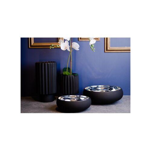 Półmisek szklany czarny mat + srebro Home Decoration Glassmous 30 cm