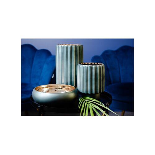 Półmisek szklany butelkowa zieleń + złoto Home Decoration Glassmous 23,5 cm