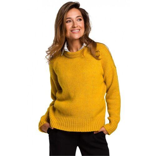 Style Miękki sweter o luźnym splocie - Żółty - rozmiar: Large