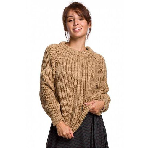 BE Knit Ciepły sweter z grubej przędzy - Beżowy - rozmiar: Large