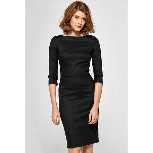 Colett Elegancka dopasowana sukienka midi - Czarny - rozmiar: 40