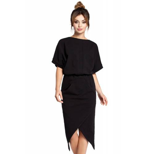BE Efektowna sukienka o awangardowym kroju - Czarny - rozmiar: 2X-Large
