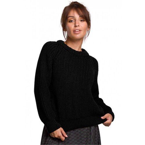 BE Knit Ciepły sweter z grubej przędzy - Czarny - rozmiar: Large