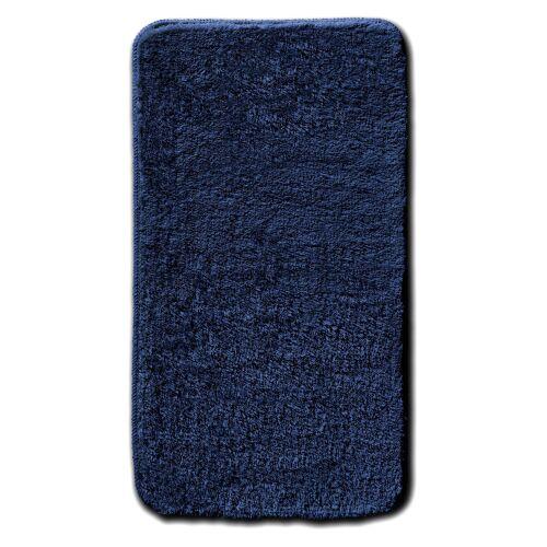 bonprix Dywaniki łazienkowe z wysokim runem bonprix granatowy - Size: Dywanik okrągły Ø 75 cm;Dywanik przed kabinę prysznicową, półokrągły 50/80 cm;Kompl. 3-częściowy (dywanik pod muszlę stojącą, dywanik 50/90 cm, pokrycie na klapę WC);Kompl. 3-częściowy