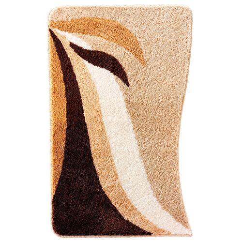 bonprix Dywaniki łazienkowe w falowane pasy bonprix kawowy - Size: Dywanik łazienkowy 50/90 cm;Dywanik łazienkowy 60/100 cm;Dywanik łazienkowy 80/150 cm;Dywanik prysznicowy półokrągły 50/80 cm;Kompl. 3-częściowy (dywanik pod muszlę stojącą, dywanik 50/90