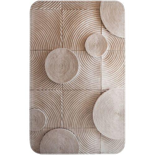 bonprix Dywaniki łazienkowe z pianką memory bonprix kremowy - Size: dywanik łazienkowy 80/150 cm;Dywanik przed kabinę prysznicową, półokrągły 50/80 cm