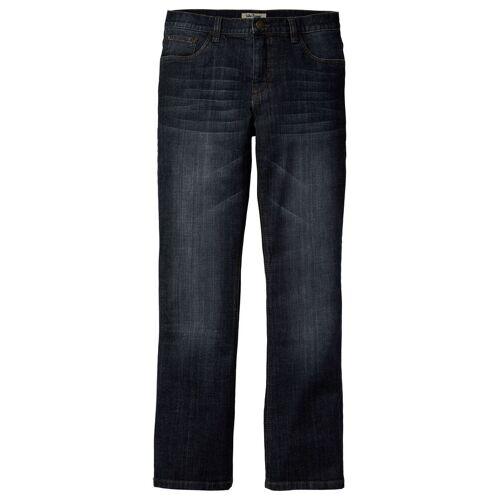 bonprix Dżinsy ze stretchem Slim Fit Bootcut bonprix ciemny denim - Size: 48;50;52;54;56;58;60