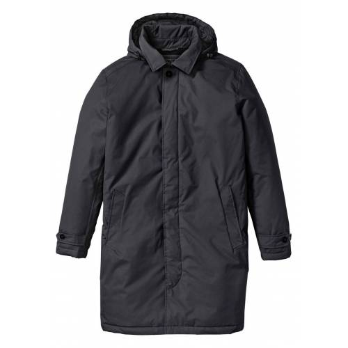 bonprix Krótki płaszcz przeciwdeszczowy, watowany bonprix czarny - Size: 46;48;50;52;54;56;58;60;62;64