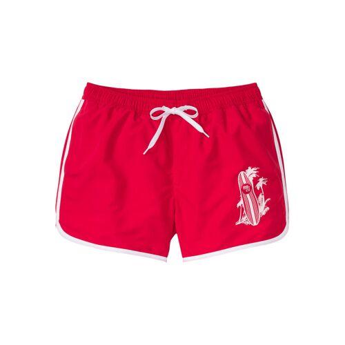 bonprix Szorty plażowe Regular Fit bonprix czerwono-biały - Size: 44/46 (S);48/50 (M);52/54 (L);56/58 (XL);60/62 (XXL);64/66 (3XL);68/70 (4XL)