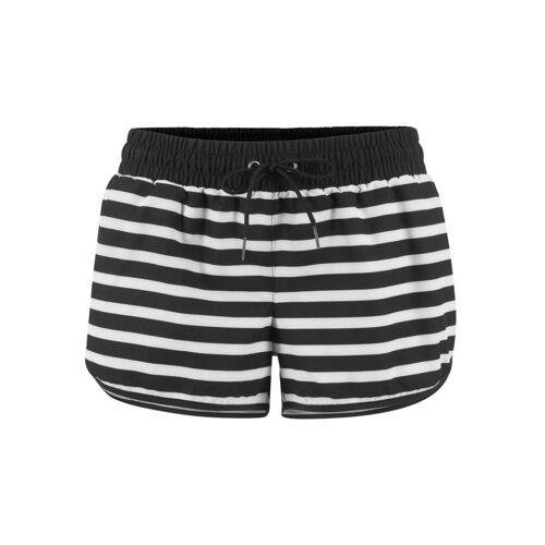 bonprix Szorty plażowe bonprix czarno-biały - Size: 40;42;44;46;48;50;52;54