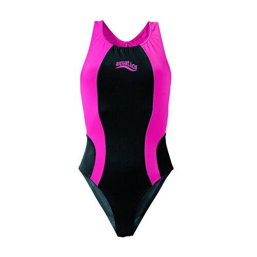 bonprix Strój kąpielowy dziewczęcy bonprix czarno-różowy - Size: 128/134;140/146;152/158;164/170;176/182