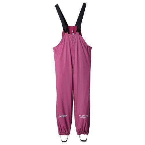 bonprix Spodnie przeciwdeszczowe dziewczęce na szelkach, ocieplane bonprix jeżynowy - Size: 80/86