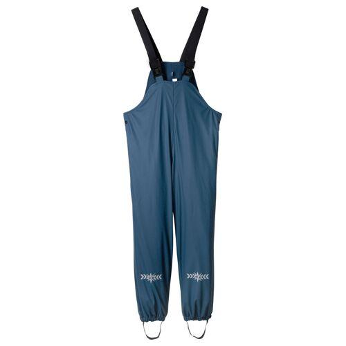 bonprix Spodnie przeciwdeszczowe chłopięce na szelkach ocieplane bonprix ciemnoniebieski - Size: 80/86