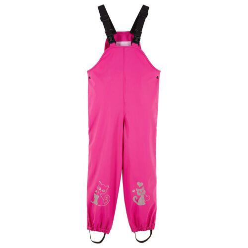 bonprix Spodnie dziewczęce przeciwdeszczowe na szelkach bonprix różowa magnolia - Size: 80/86