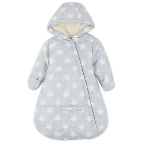 bonprix Śpiworek niemowlęcy do wózka bonprix szary stalowy - biel wełny - Size: 92/98