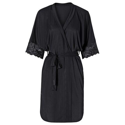bonprix Szlafrok kimono bonprix czarny - Size: 32/34;36/38;40/42;44/46;48/50;52/54;56/58