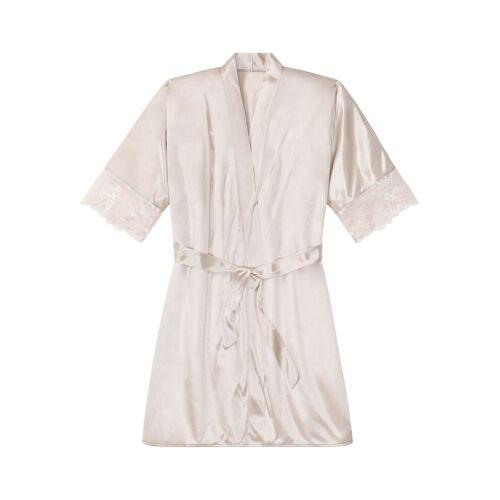 bonprix Szlafrok kimono bonprix bezowy - Size: 32/34;36/38;40/42;44/46;48/50;52/54;56/58