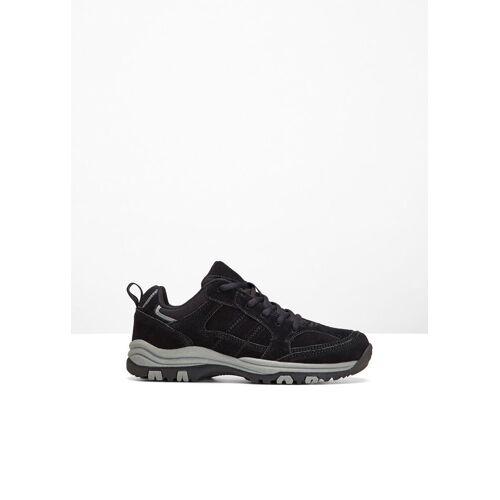 bonprix Skórzane buty trekkingowe bonprix czarny - Size: 46