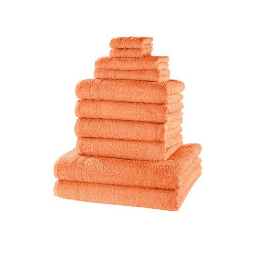 bonprix Komplet ręczników (10 części) bonprix morelowy - Size: 0