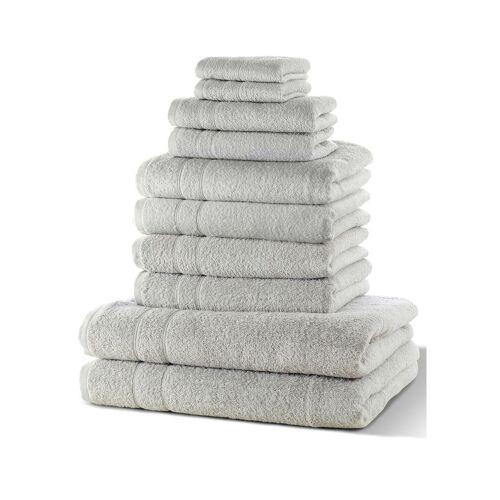 bonprix Komplet ręczników (10 części) bonprix szary - Size: 4x50/100 cm, 2x70/140 cm, 2x30/50 cm, 2x24/24 cm