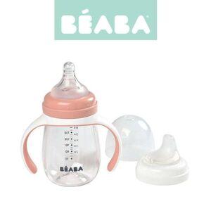 Beaba Akcesoria dla matek i niemowlt Butelka treningowa 2 w 1 tritanowa 210 ml old pink