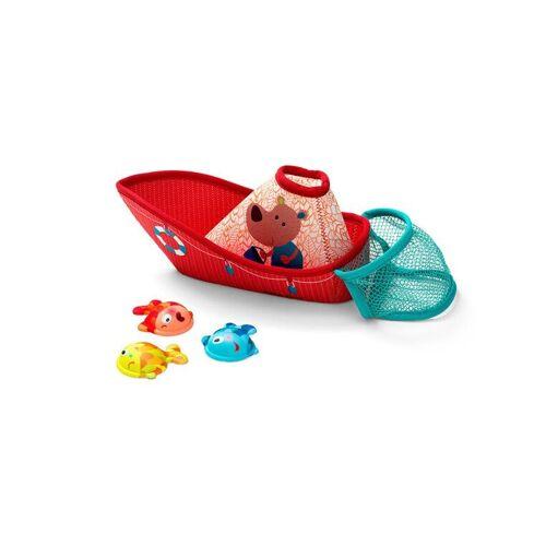Lilliputiens Dla dzieci i niemowlt Kuter rybacki do kpieli z sieci i 3 rybkami 9 m+