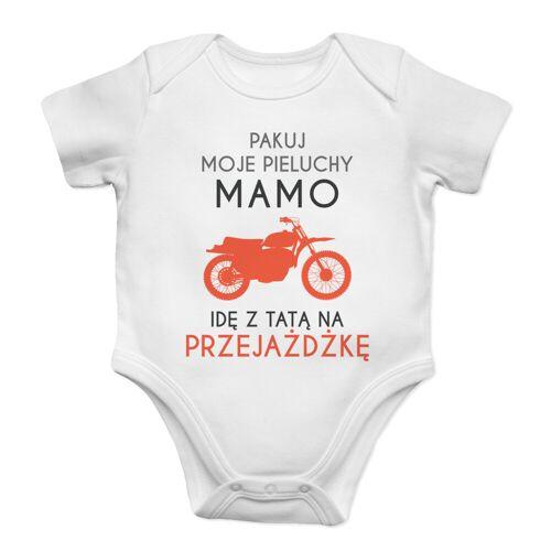 [Koszulkowy.pl] Pakuj moje pieluchy mamo - przejażdżka - body dziecięce z nadrukiem