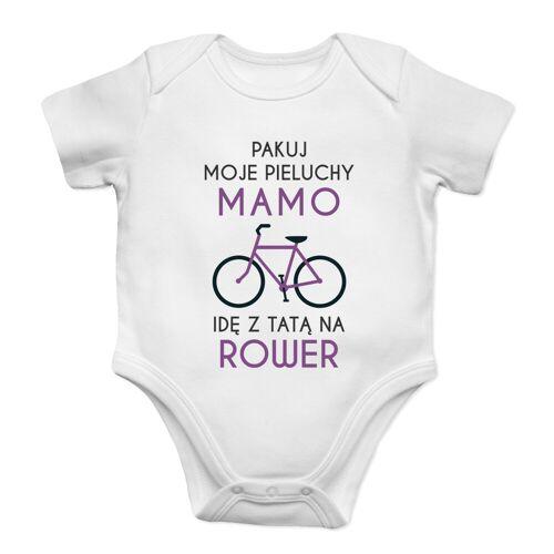 [Koszulkowy.pl] Pakuj moje pieluchy mamo - rower - body dziecięce z nadrukiem