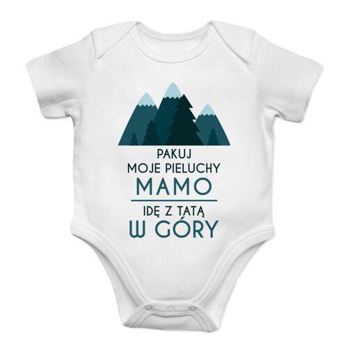 [Koszulkowy.pl] Pakuj moje pieluchy mamo - góry - body dziecięce z nadrukiem