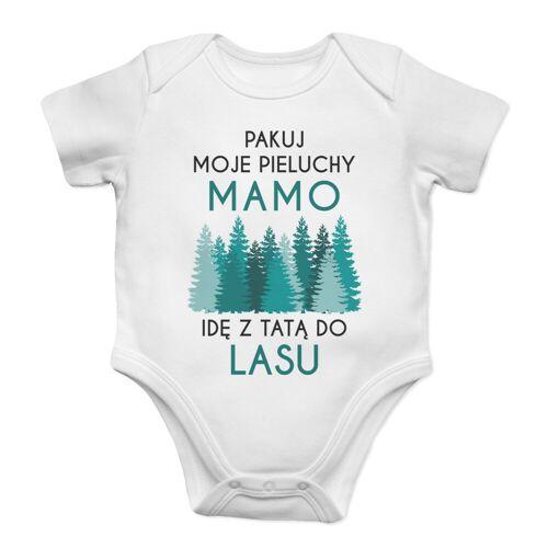 [Koszulkowy.pl] Pakuj moje pieluchy mamo - las - body dziecięce z nadrukiem