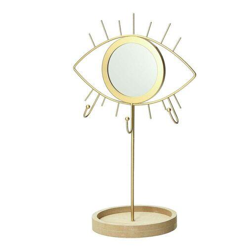 Dekoria Stojak na biżuterię z lusterkiem Gold Eye
