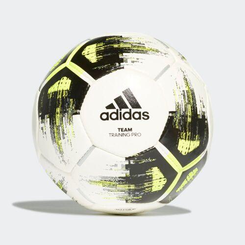 Adidas Piłka treningowa Team Pro  - White / Solar Yellow / Black / Iron Metallic - Unisex - Size: 3,4,5