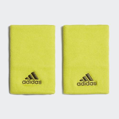 Adidas Opaska na nadgarstek Tennis Large  - Shock Slime / Wild Pine - Unisex - Size: Medium