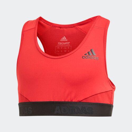 Adidas Biustonosz sportowy Alphaskin  - Active Maroon / Black - Dziecięce - Size: 110,116,128,140,152,158,164,170
