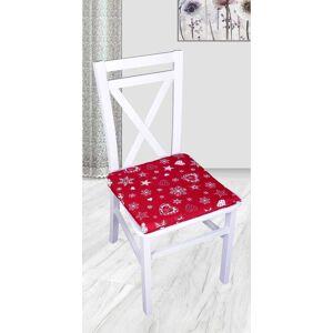 Forbyt Forby, Podkadka na taburet, witeczne serce,czerwone 40 x 40 cm