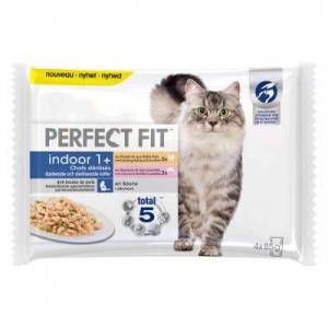Perfect Fit Sterilise Indoor Adult 1+ - Wołowina i kurczak, 52 x 85 g