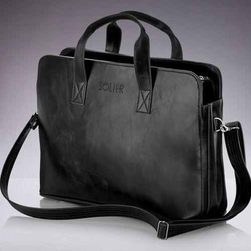 SOLIER Męska torba na ramię, torba na laptop SOLIER S05 czarna