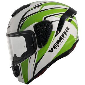 Vemar Hurricane Spark Kask Biały Zielony XL
