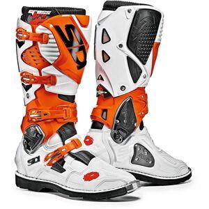 Sidi Crossfire 3 Motocross Boots Biały Pomarańczowy 47