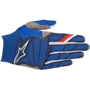 Alpinestars Aviator Motocross rękawice Biały Niebieski L