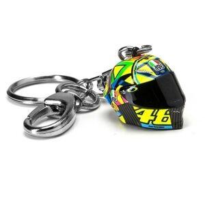VR46 3D Helmet Pęk kluczy Czarny żółty jeden rozmiar