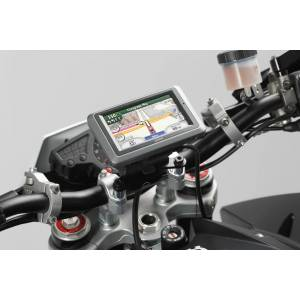 SW-Motech Mocowanie GPS SW-Motech do kierownicy - czarne. Amortyzator amortyzatora.  unisex